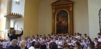 Az Evangélikus Kántorképző Intézet augusztusi tanfolyamának kórusa ismét Angyalföldön koncertezett