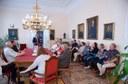 Izlandi Árbæ Egyházkerület vezetősége a Puskin utcában