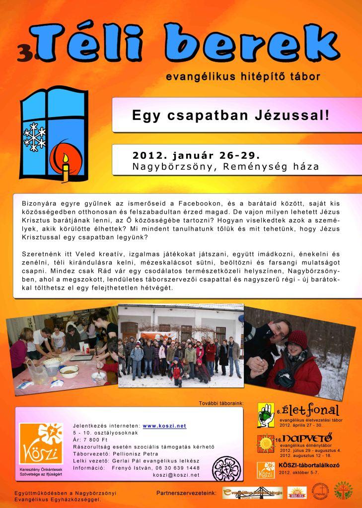 3. Téli berek - evangélikus hitépítő tábor 5. - 10. osztályosoknak